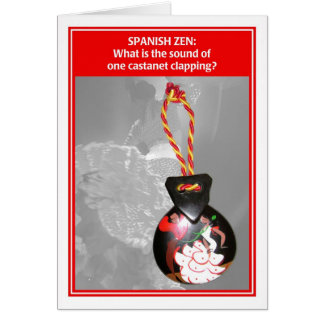 Spanish Zen One Castanet Funny Birthday Card
