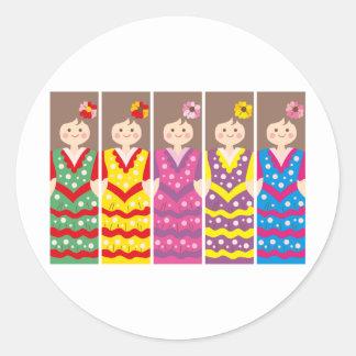 SpanishBookmark Classic Round Sticker
