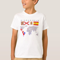 SPANISHNESS origin and map. Young t-shirt