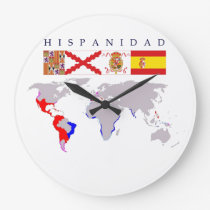 SPANISHNESS origin with map. Clock