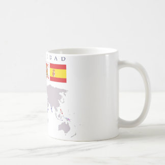SPANISHNESS origin with map. Cup