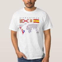 SPANISHNESS origin with map T-Shirt