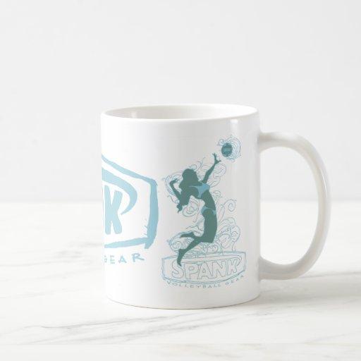 Spank Bikini Girl Blue Coffee Mug
