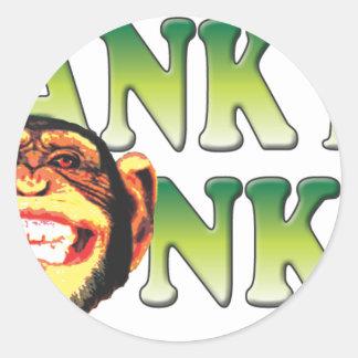 Spank My Monkey Round Stickers