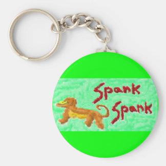 spank spank basic round button keychain