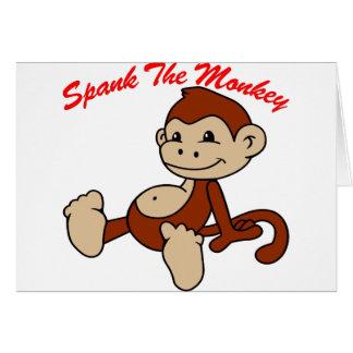 The monkey will spank