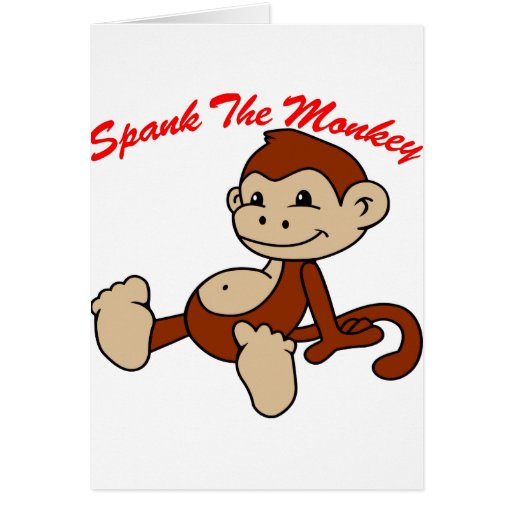 Spank the monkey card See