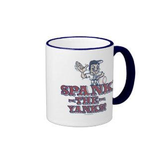 Spank the Yanks Anti-Yankee Gear Ringer Mug