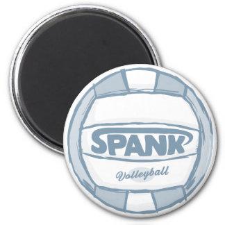 Spank Volleyball 2 Inch Round Magnet
