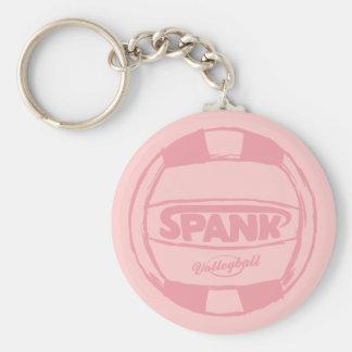 Spank Volleyball Ball Basic Round Button Keychain