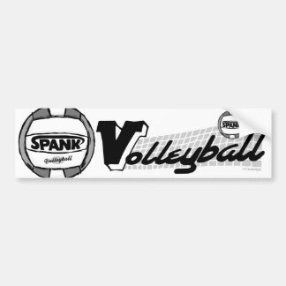 Spank Volleyball Black Bumper Stickers