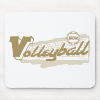 Spank Volleyball Gold Mouse Pad