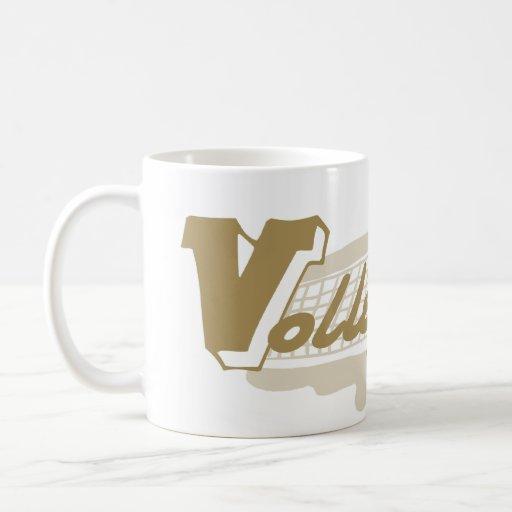 Spank Volleyball Gold Mugs