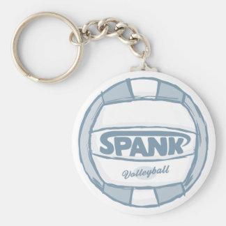 Spank Volleyball Basic Round Button Keychain