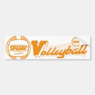 Spank Volleyball Orange Bumper Sticker