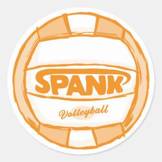 Spank Volleyball Orange Sticker