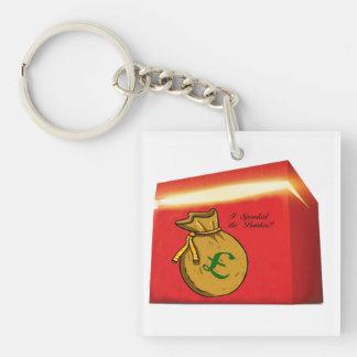 Spanked the Banker keychine Single-Sided Square Acrylic Keychain