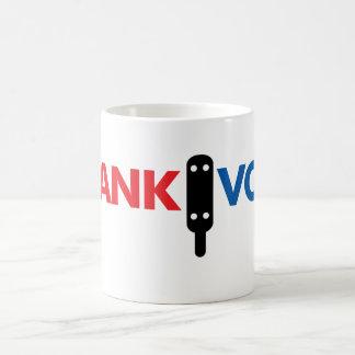 SpankVote com Tazas De Café
