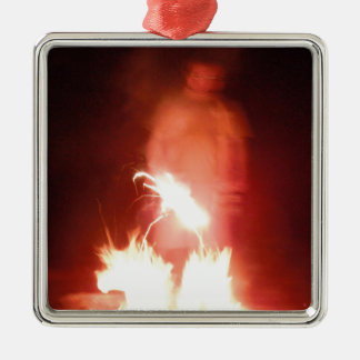 Sparagmos Transition Fire Demon Angel Colored Metal Ornament
