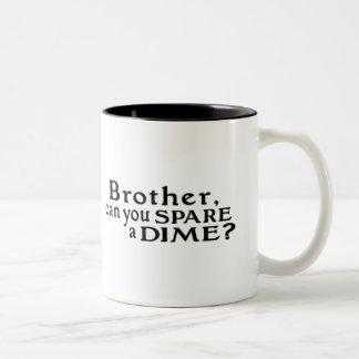 Spare a Dime Two-Tone Coffee Mug
