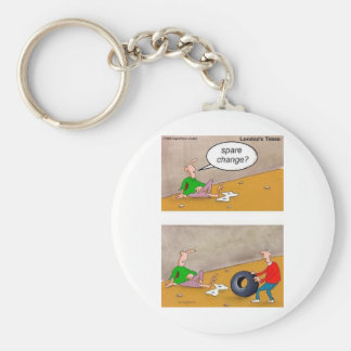 Spare Change: Offbeat Funny Cartoon Gifts & Tees Keychain