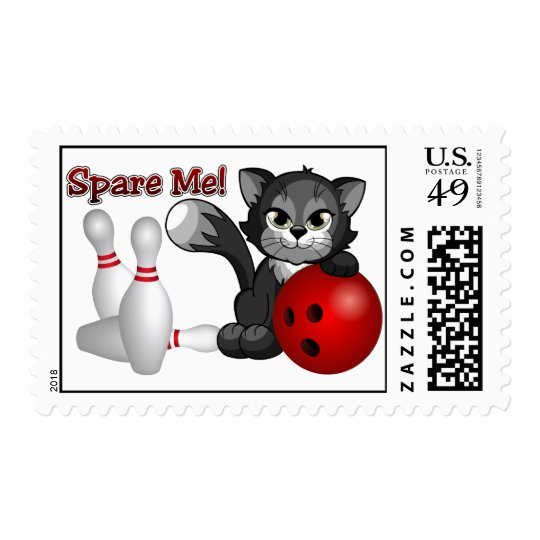 Spare Me Cat Postage Stamps