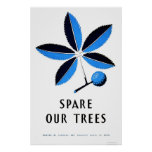 Spare Our Trees 1938 WPA Poster