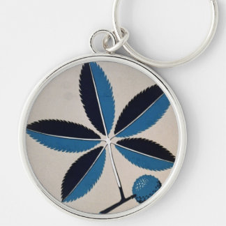 Spare Our Trees Silver-Colored Round Keychain
