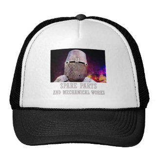 Spare parts and mechanical works trucker hat