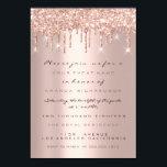 "Spark Glitter Drips Rose Gold  Bridal Sweet 16th Invitation<br><div class=""desc"">florenceK elegant luxury event</div>"