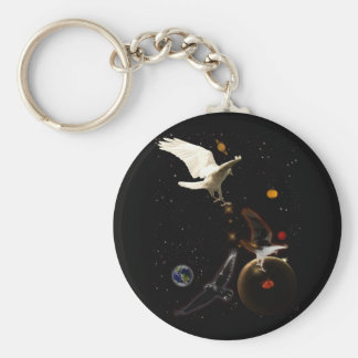 """""""Spark of Creation"""" White Raven Gifts Keychain"""