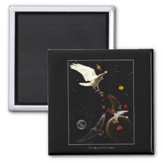 """Spark of Creation"" White Raven Gifts Magnet"