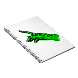 Spark of Life - Hand of a Cyborg God (Neon Green) Spiral Notebook