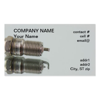 spark plug with reflection business card template