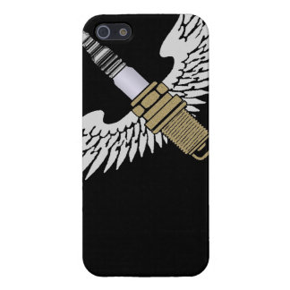 spark plug with wings cool fun engine car combusti case for iPhone SE/5/5s