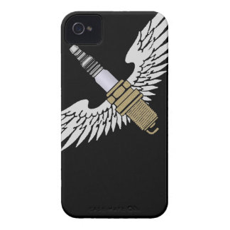 spark plug with wings cool fun engine car combusti Case-Mate iPhone 4 case