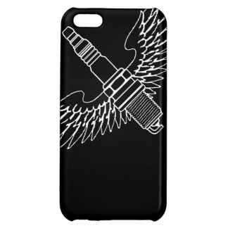 spark plug with wings cool fun engine car combusti cover for iPhone 5C