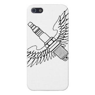 spark plug with wings cool fun engine car combusti cover for iPhone SE/5/5s