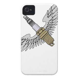 spark plug with wings cool fun engine car combusti iPhone 4 Case-Mate case