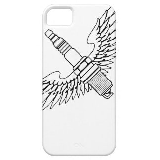 spark plug with wings cool fun engine car combusti iPhone SE/5/5s case