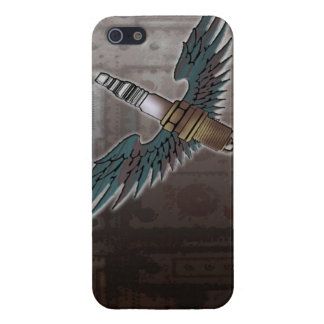 spark plug with wings cool fun engine car combusti iPhone SE/5/5s cover