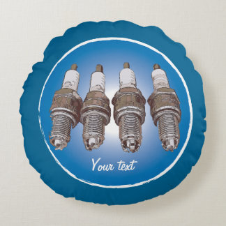 Spark plugs of the engine round pillow