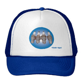 Spark plugs of the engine trucker hat