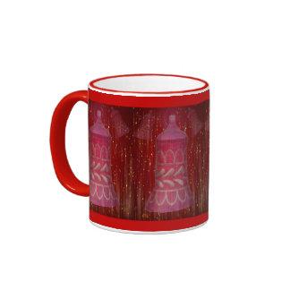 Sparkeling Pink Christmas Ornament Gift Mugs