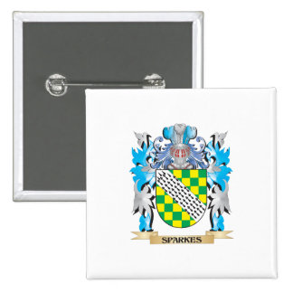 Sparkes Coat of Arms - Family Crest 2 Inch Square Button