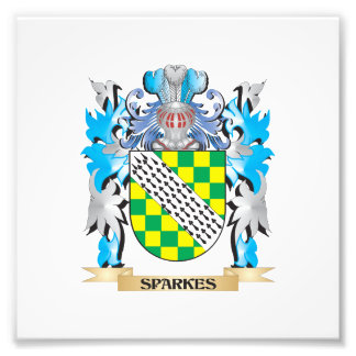 Sparkes Coat of Arms - Family Crest Photographic Print