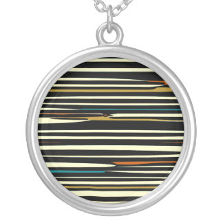 Sparking Earth Colours>Round Silverplated Necklace