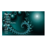 Sparkle 3 Abstract Fractal Fine Art Business Card Template
