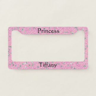 Sparkle and Bling Princess License Plate Frame