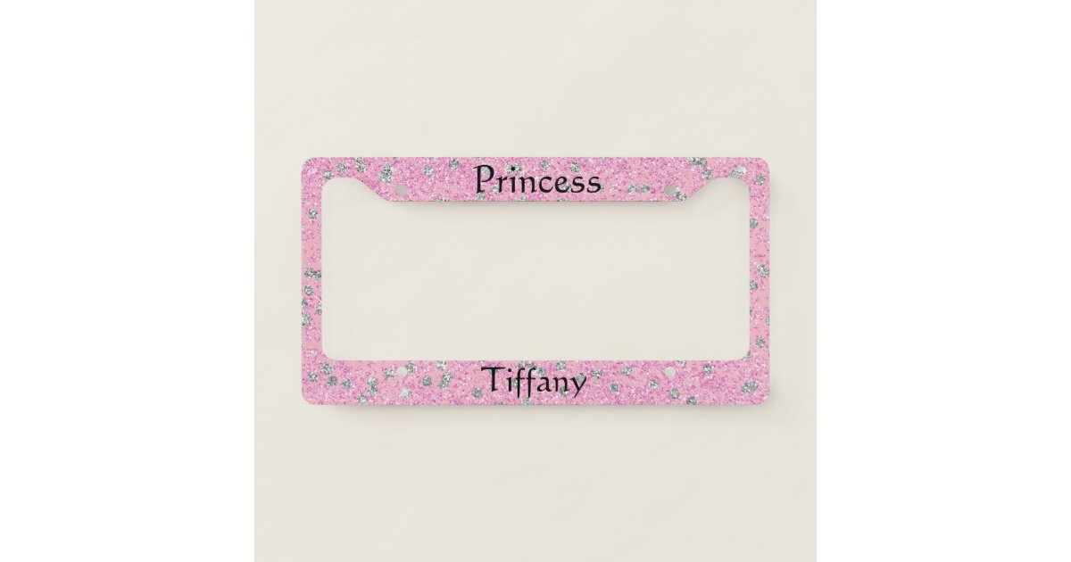 Sparkle and Bling Princess License Plate Frame | Zazzle.com